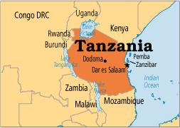 Tanzania, United Republic of Map
